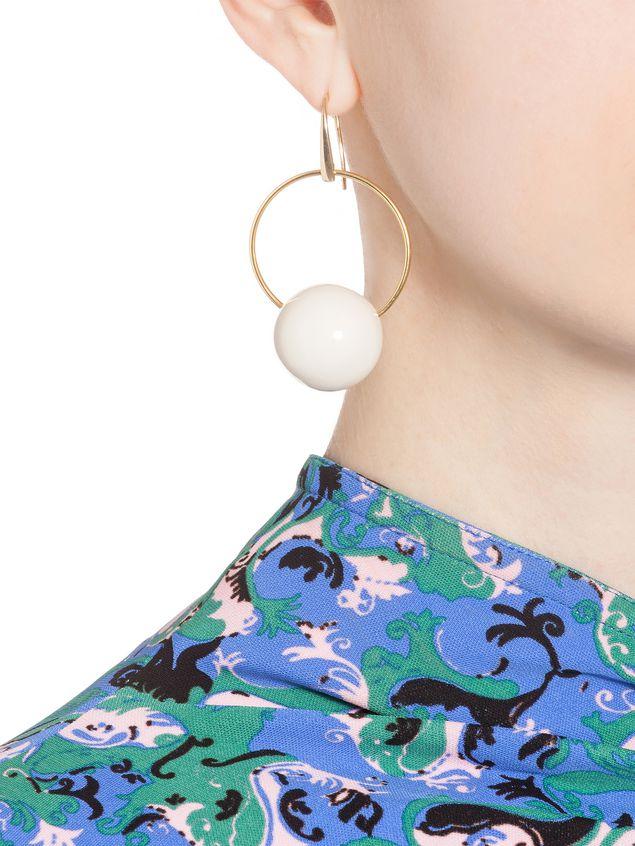 Marni Leverback earrings in resin Woman - 2