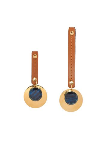 Marni Screw earrings disk in gold-tone metal Woman