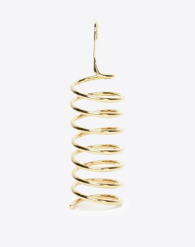 MAISON MARGIELA Earrings D Single spiral chrome earring f