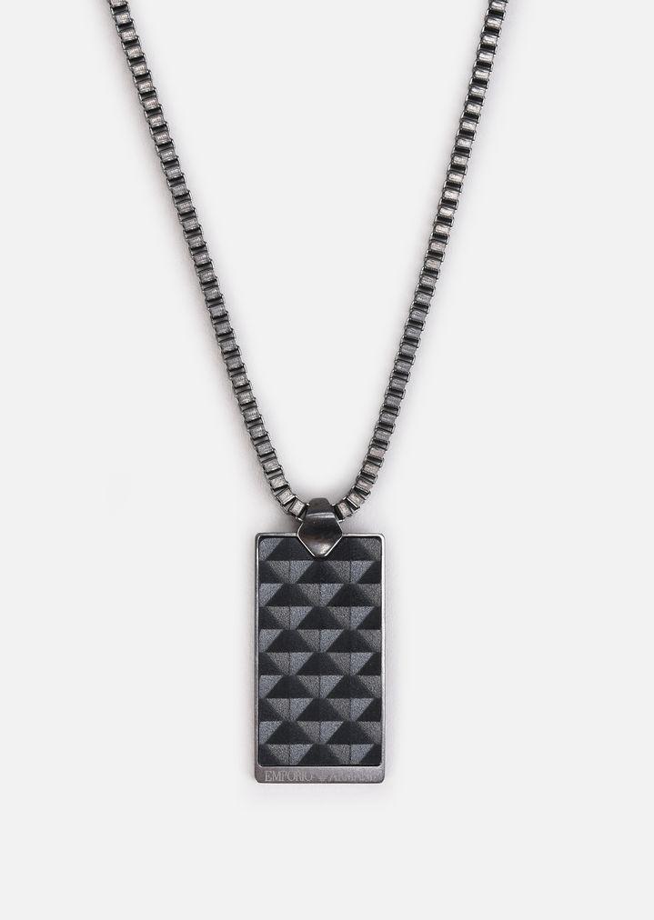 Emporio Armani double stranded necklace - Grey wtUBn6q