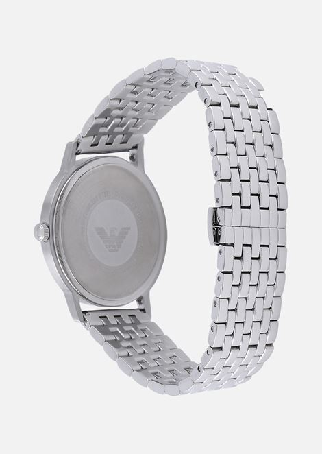 Man three-hands stainless steel watch