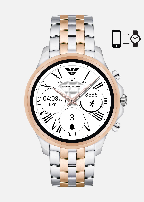 EMPORIO ARMANI Touchscreen Smartwatch 5001 Connected U f