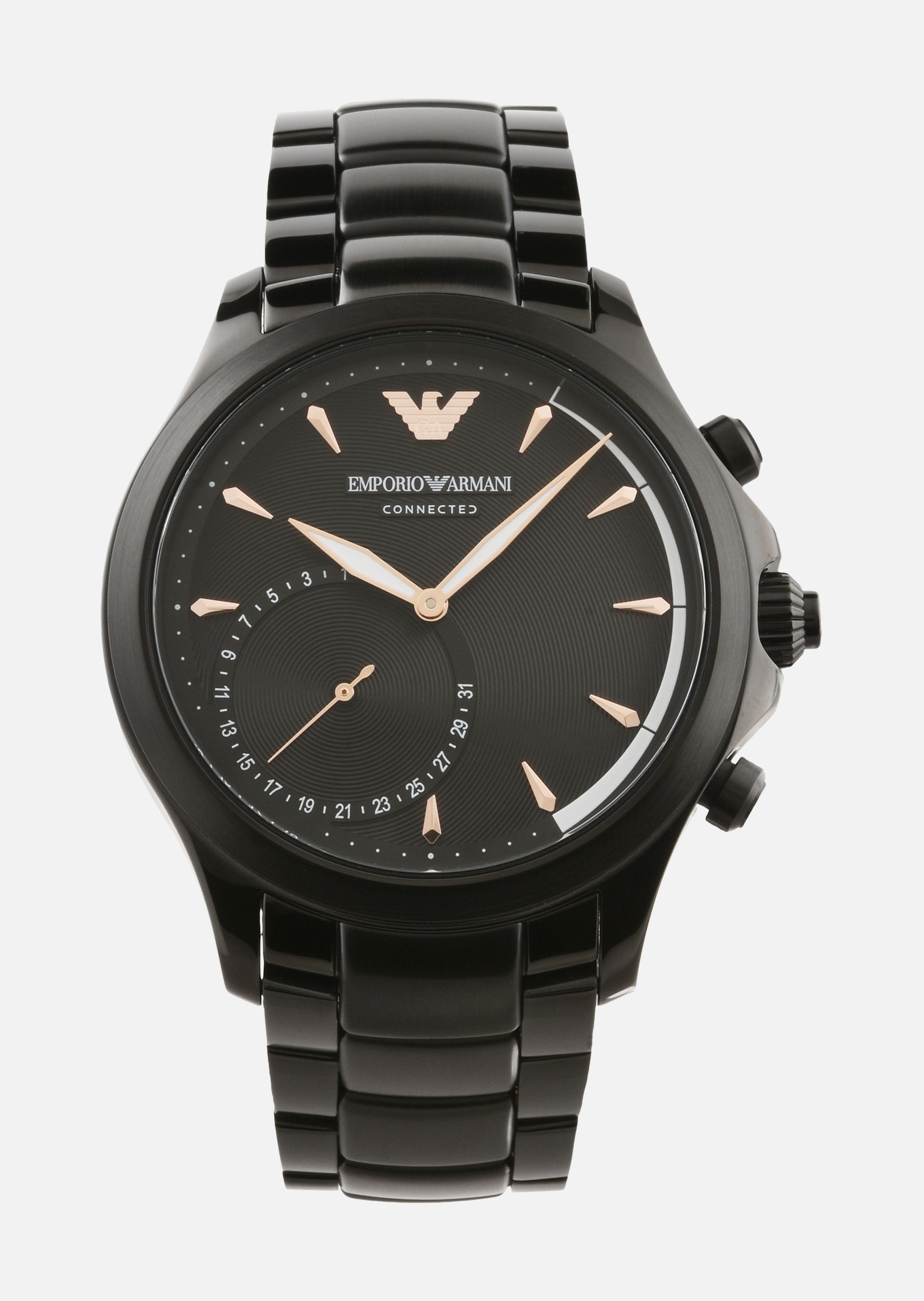 montre connect e hybride 3012 homme emporio armani. Black Bedroom Furniture Sets. Home Design Ideas