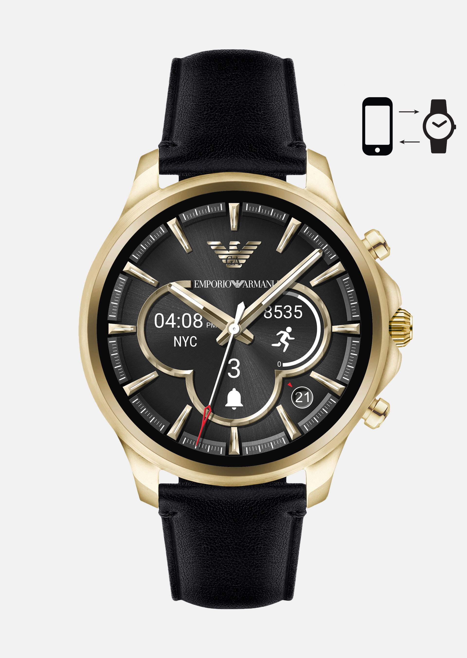 EMPORIO ARMANI SMARTWATCH TOUCHSCREEN 5004 Connected U f