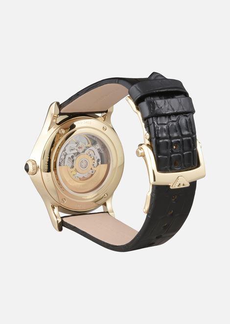 Emporio armani swiss made man automatic alligator watch
