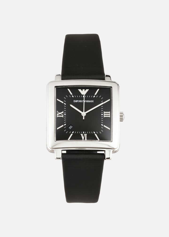 0b21348ccc Watch with leather strap   Man   Emporio Armani
