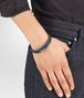 BOTTEGA VENETA DENIM INTRECCIATO NAPPA AND SILVER BRACELET Bracelet Man ap