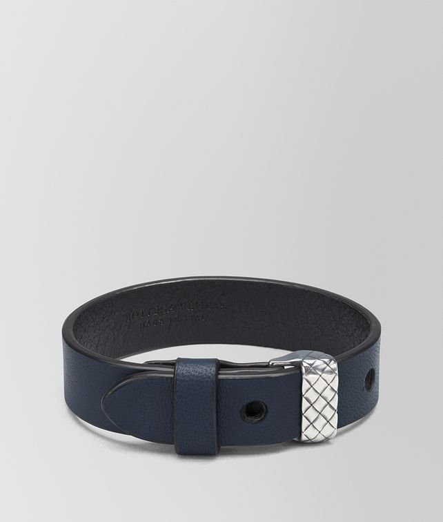 BOTTEGA VENETA DENIM NAPPA AND SILVER AND CUIR BRACELET Bracelet [*** pickupInStoreShippingNotGuaranteed_info ***] fp