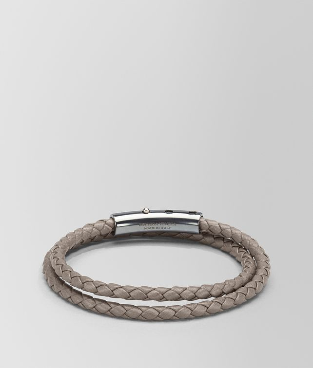 BOTTEGA VENETA STEEL INTRECCIATO NAPPA AND SILVER BRACELET Bracelet [*** pickupInStoreShippingNotGuaranteed_info ***] fp