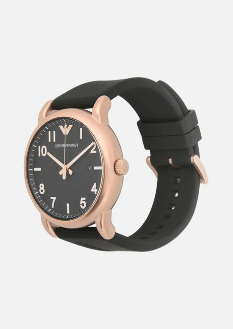 11097 watch with rubber strap