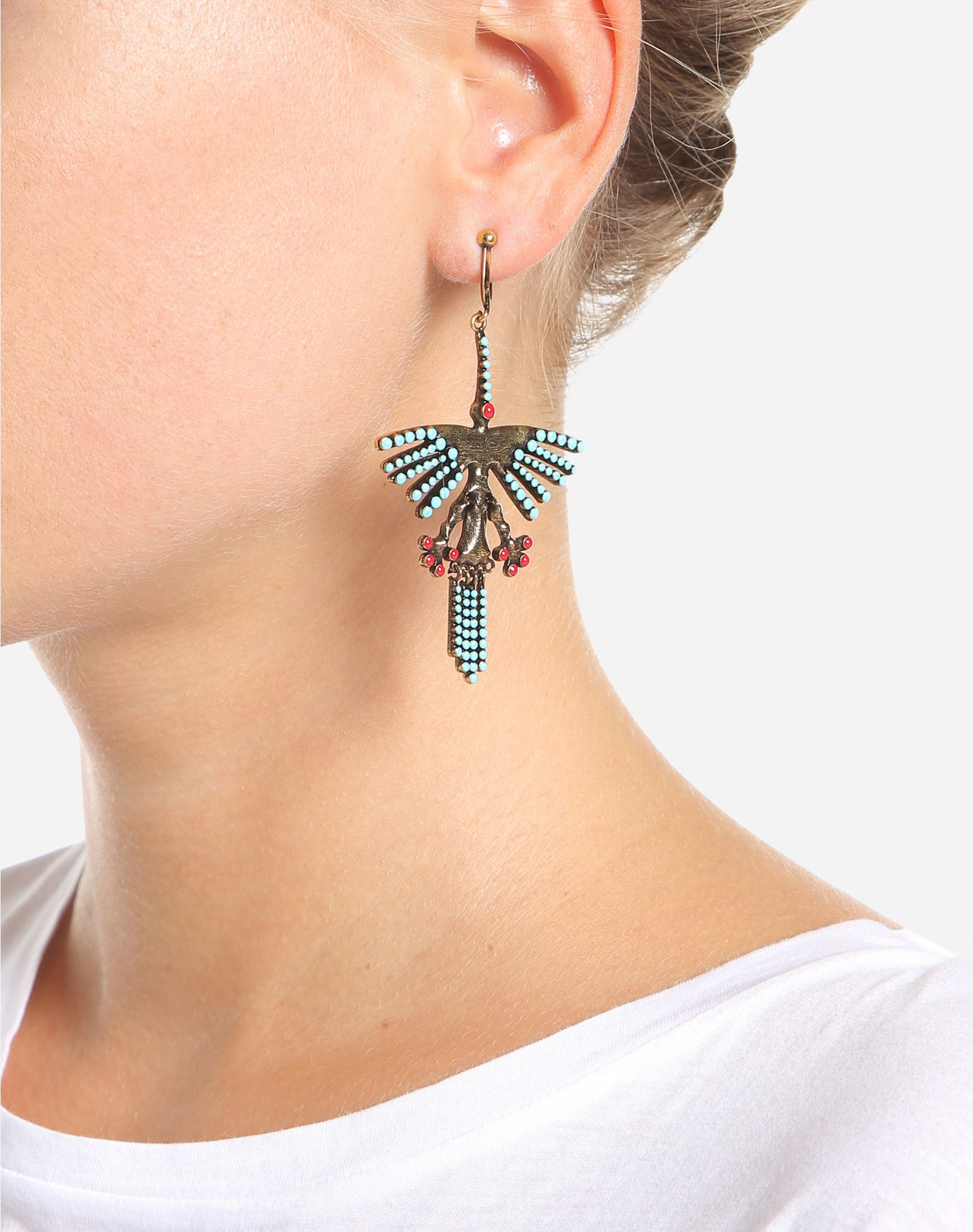 VALENTINO GARAVANI Hummingbird earrings Earrings D a
