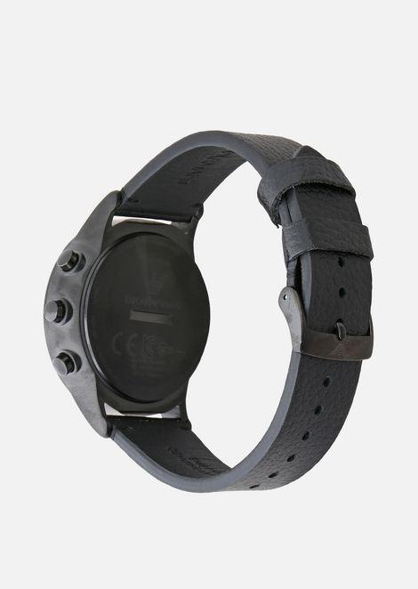 Emporio armani man leather hybrid smartwatch