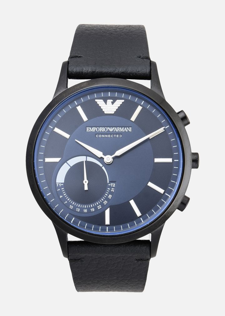 69e253879 Emporio armani man leather hybrid smartwatch | Man | Emporio Armani