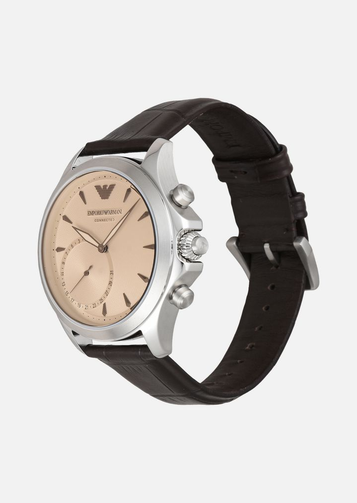... EMPORIO ARMANI 3014 Hybrid Smartwatch Connected Man r ...