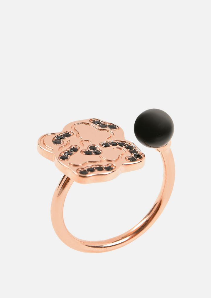 77e4bb68ad Rose Gold Plated Stainless Steel Ring | Woman | Emporio Armani