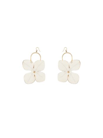 Marni Flower hook earrings in metal Woman