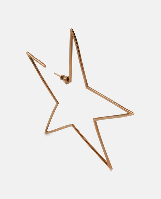 Gold Brass Star Earrings