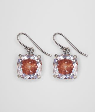 BROWN CUBIC ZIRCONIA SILVER EARRING