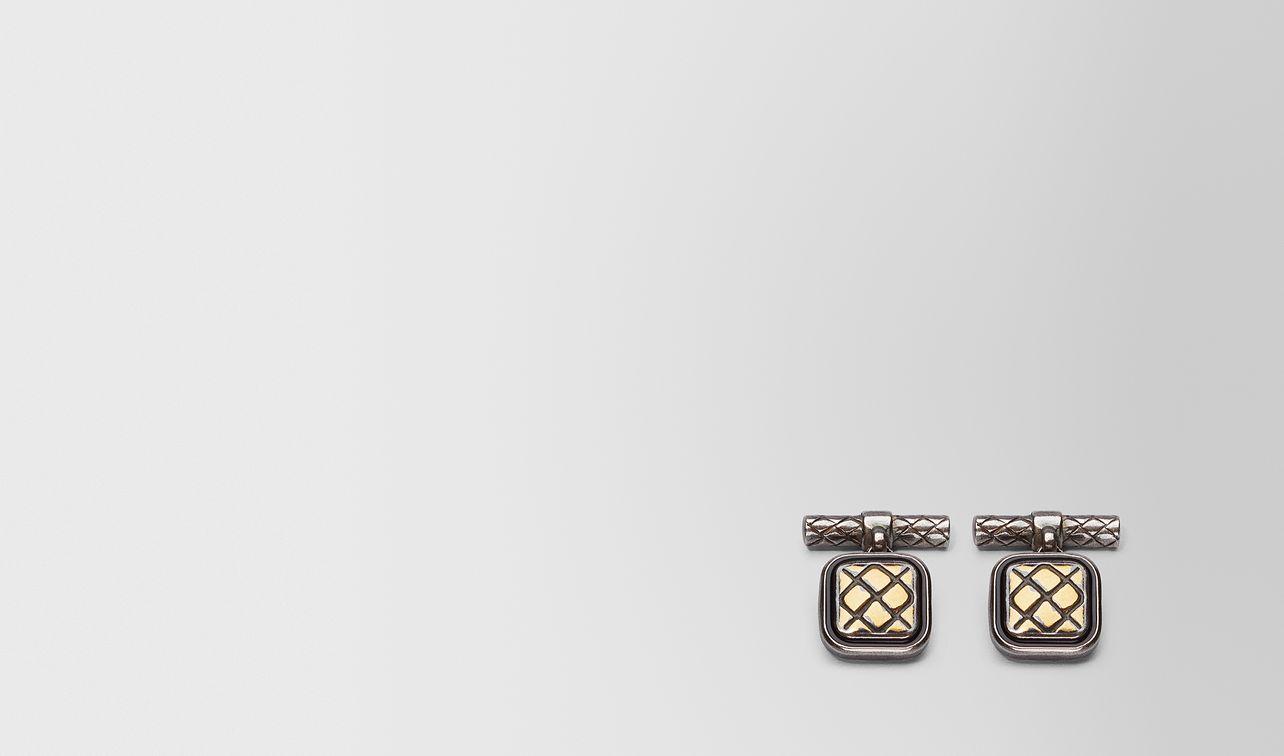 oxidized silver nero matte enamel cufflink landing