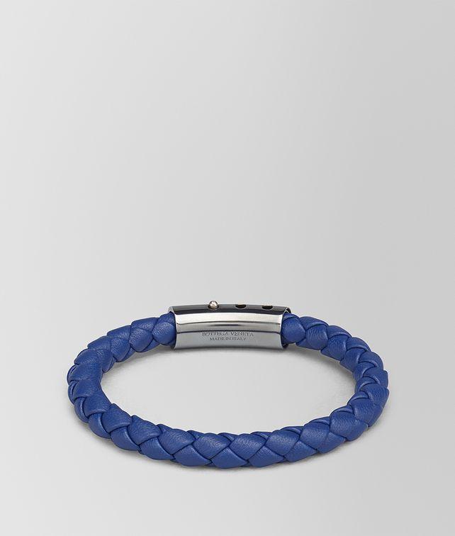 BOTTEGA VENETA COBALT BLUE INTRECCIATO NAPPA BRACELET Bracelet Man fp