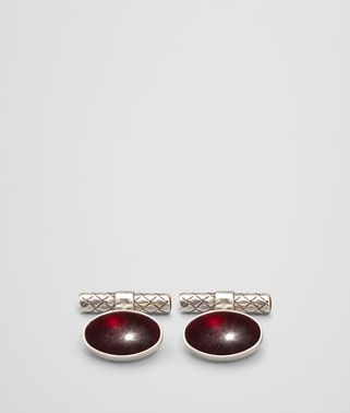 ANTIQUE SILVER GARNET CUFFLINK