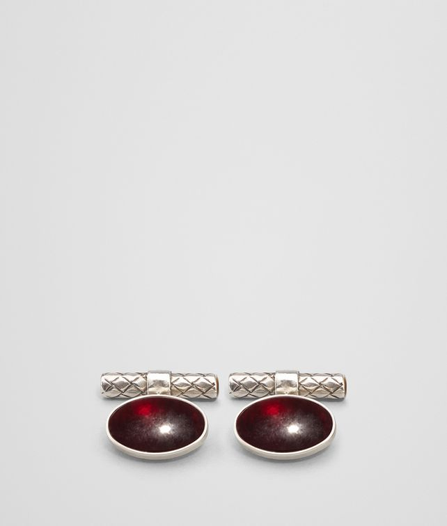 BOTTEGA VENETA ANTIQUE SILVER GARNET CUFFLINK Other Jewellery Man fp