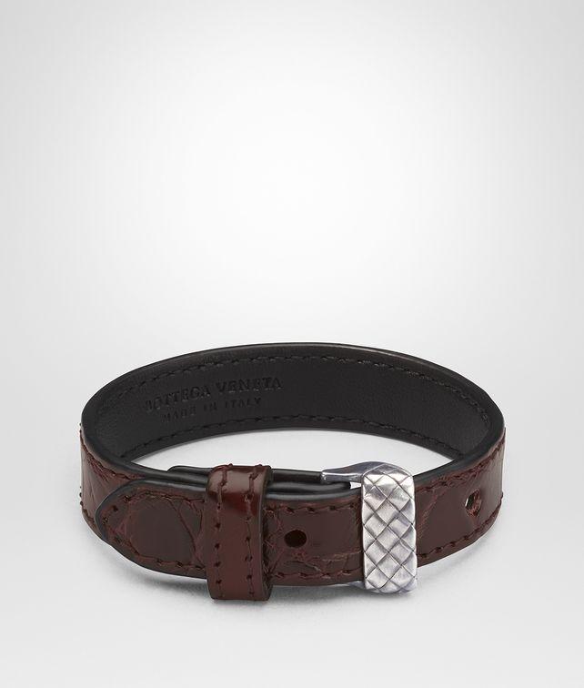 BOTTEGA VENETA DARK BAROLO CROCODILE BRACELET Bracelet [*** pickupInStoreShippingNotGuaranteed_info ***] fp
