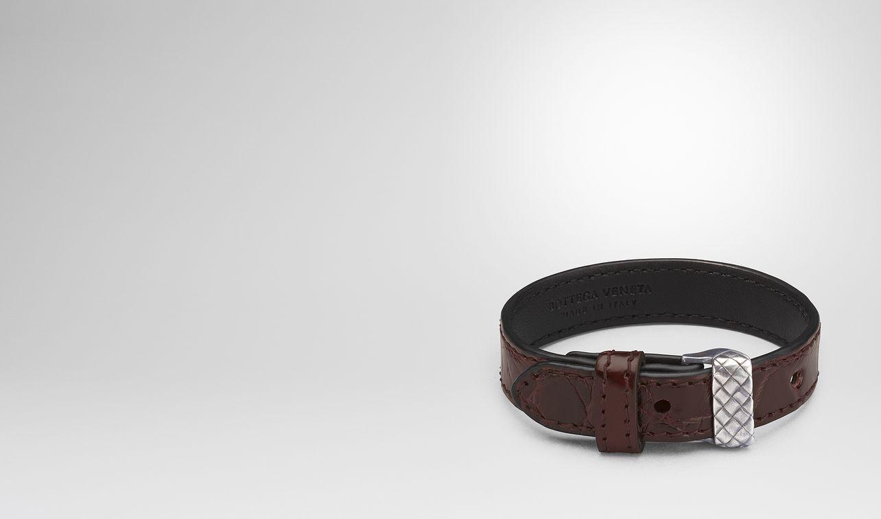 dark barolo crocodile bracelet landing