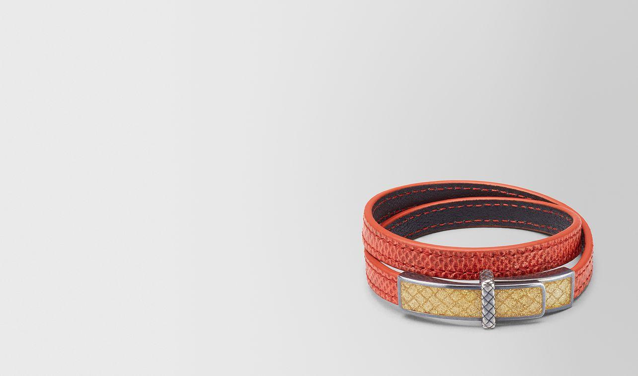bracelet en karung terracotta et émail oro landing