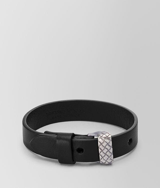 BOTTEGA VENETA NERO NAPPA BRACELET Bracelet Man fp
