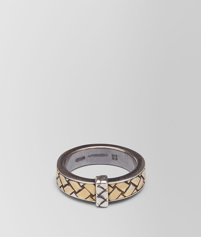 BOTTEGA VENETA OXIDIZED SILVER GOLD RING Ring [*** pickupInStoreShippingNotGuaranteed_info ***] fp