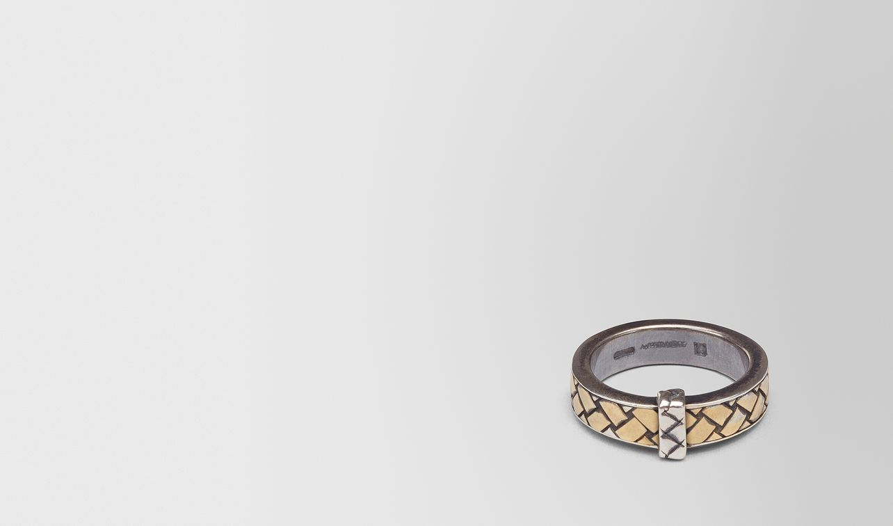 oxidized silver gold ring landing
