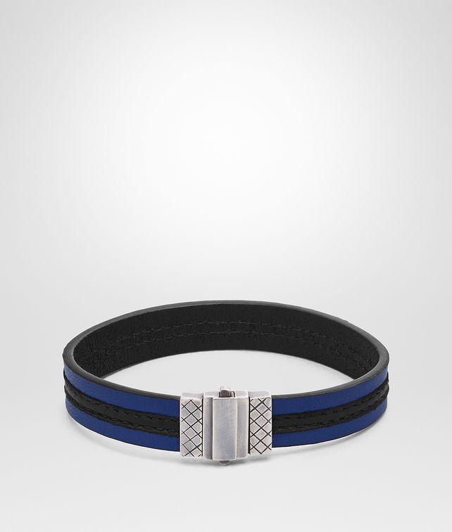 BOTTEGA VENETA COBALT BLUE NERO NAPPA BRACELET Bracelet [*** pickupInStoreShippingNotGuaranteed_info ***] fp