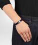 cobalt blue nero nappa bracelet Front Detail Portrait