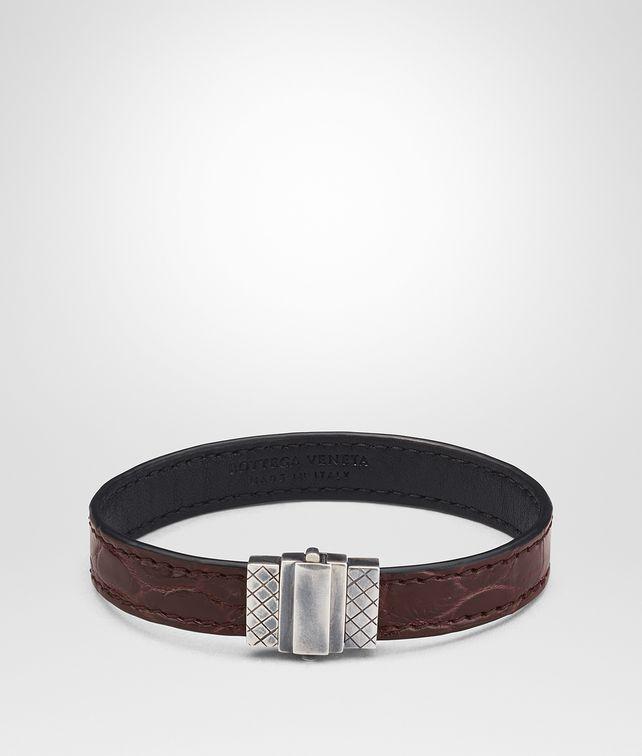 BOTTEGA VENETA DARK BAROLO NERO CROCODILE BRACELET Bracelet Man fp