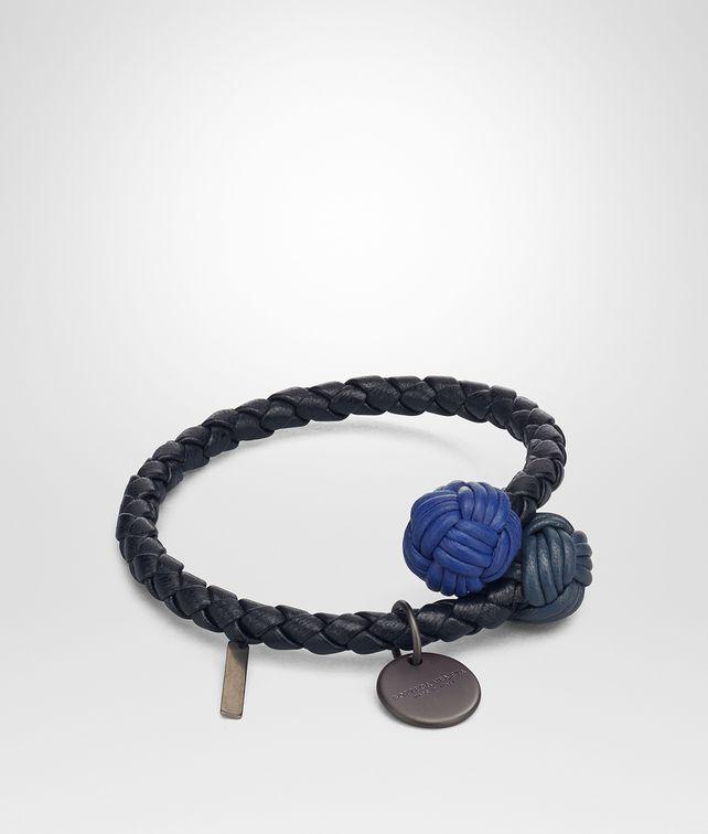BOTTEGA VENETA TOURMALINE INTRECCIATO NAPPA MULTICOLOR BRACELET Keyring or Bracelets E fp