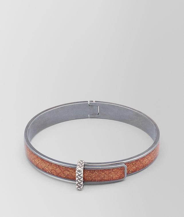 BOTTEGA VENETA BROWN OXIDIZED SILVER BRACELET Bracelet [*** pickupInStoreShipping_info ***] fp
