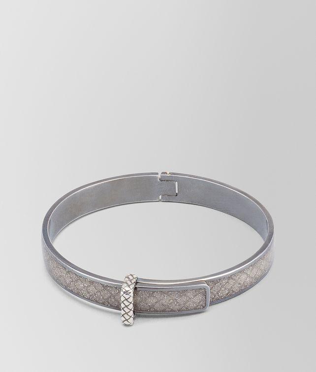 BOTTEGA VENETA ARGENTO ENAMEL OXIDIZED SILVER BRACELET Bracelet [*** pickupInStoreShipping_info ***] fp