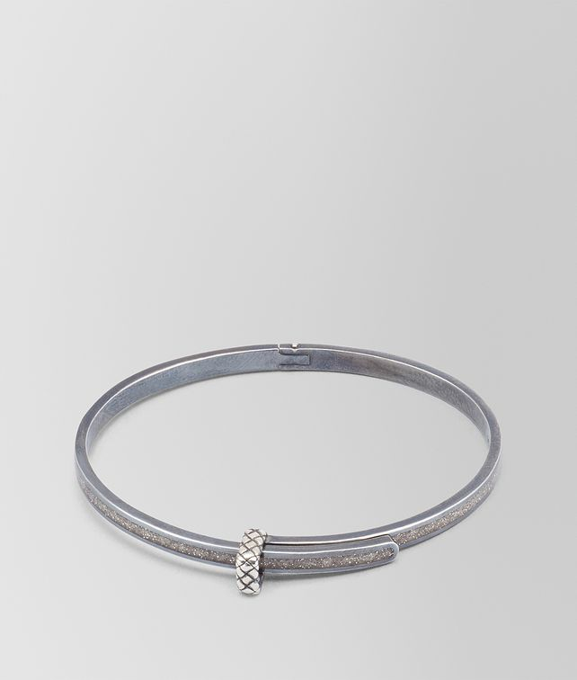 BOTTEGA VENETA ARGENTO ENAMEL OXIDIZED SILVER BRACELET Bracelet Woman fp
