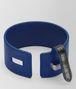 BOTTEGA VENETA COBALT BLUE NAPPA NERO CROCODILE BRACELET Bracelet Woman dp