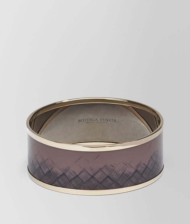BOTTEGA VENETA BRACELET IN GLICINE METAL AND ENAMEL, YELLOW GOLD PLATED Bracelet Woman fp