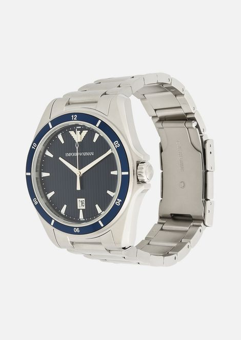 Stainless steel watch with bracelet