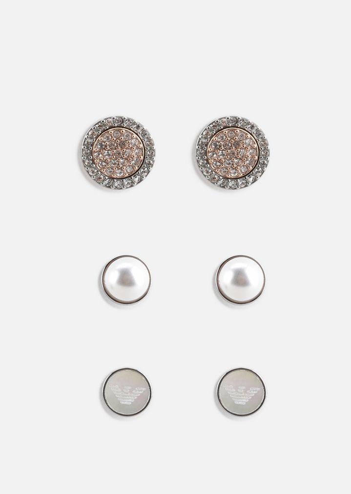 Emporio Armani Three Piece Round Stud Gift Set Earring Woman F