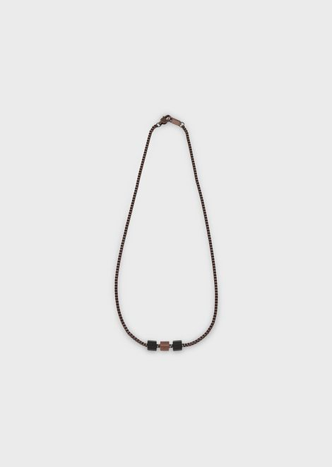 Burnished steel necklace