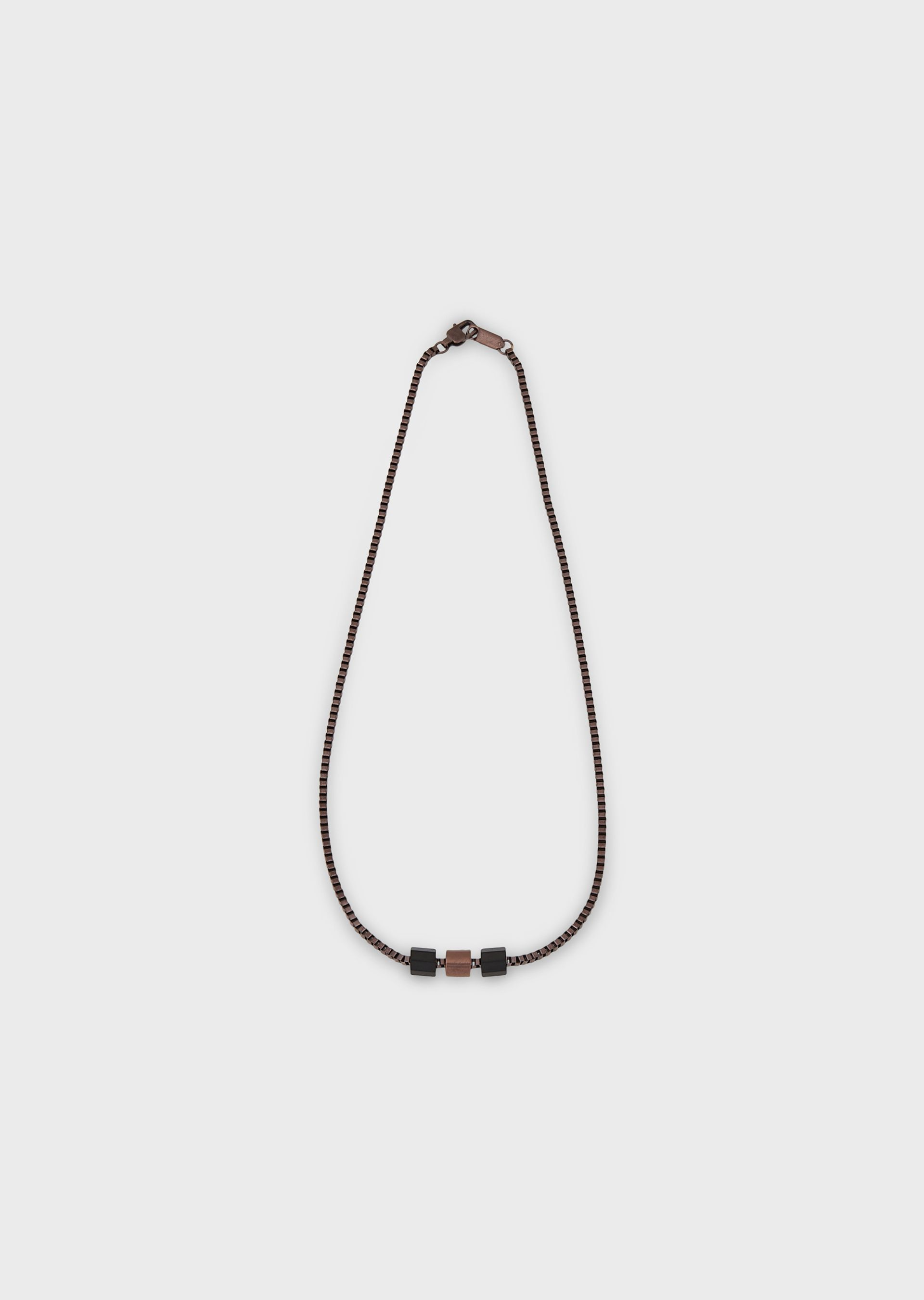 EMPORIO ARMANI Burnished steel necklace Necklace U f