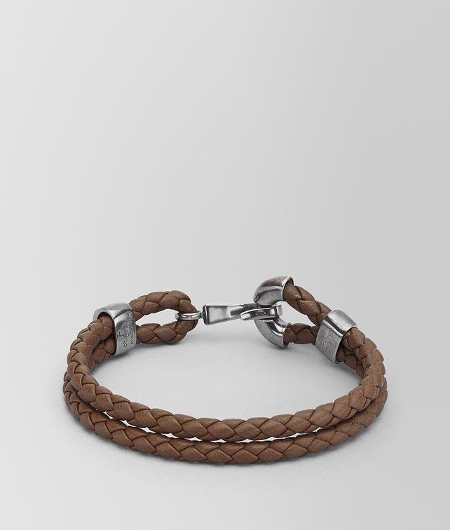 BOTTEGA VENETA DARK CALVADOS INTRECCIATO NAPPA BRACELET Bracelet Man fp