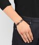 dark calvados intrecciato nappa bracelet Front Detail Portrait