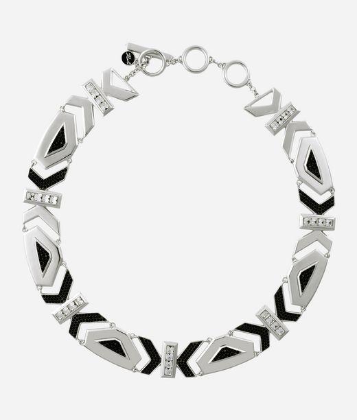 KARL LAGERFELD Art Deco K Collar Necklace 12_f