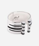 KARL LAGERFELD Art Deco Striped Hinge Cuff 8_d