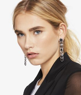 KARL LAGERFELD ART DECO K EARRINGS